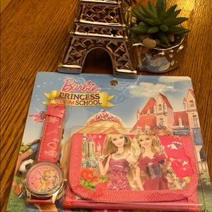 Barbie princess: watch and wallet